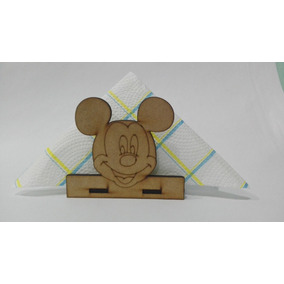 6 Servilleteros De Mickey Mouse Fibrofacil Mdf