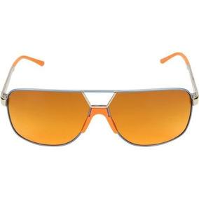 Óculos De Sol Absurda Tiete Unissex Laranja / Azul Promoção