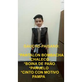 Disfraz Gaucho Caballero Paisana Negrita Coya Candombero
