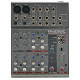 Mixer Phonic Am-105fx 10 Entradas Con Efectos! 2 Canon Xlr