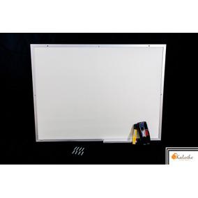 Lousa Quadro Branco Moldura De Aluminio 60x80 Cm + Brindes