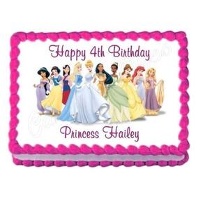 Disney Princess Decoración Del Partido Comestible Torta De