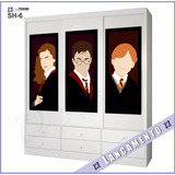 Adesivo Parede Guarda Roupa Infantil Harry Potter Geek Novo