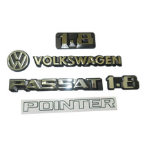 Kit Emblemas Adesivo Passat Pointer Da Tampa + 1.8 Grade