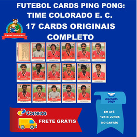 Futebol Cards Ping Pong Colorado E. C. Completo 17 Cards