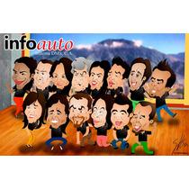 Caricaturas Regalo Personalizado Dibujos Oferta Caricatura