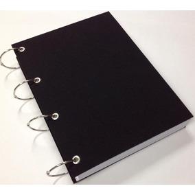 Caderno Universitário Argolado 20 Matérias 400fl Preto Liso