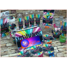 Kit Festa Personalizado Festa Neon - 200 Itens
