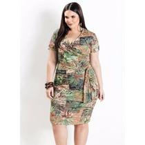 Vestido Verde Plus Size Feminino ( Roupa Tamanhos Grandes )