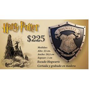 Harry Potter Hogwarts Escudo Hecho En Madera