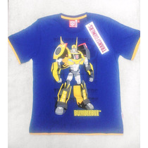 Polos Transformers Original Para Niños 100% Algodón