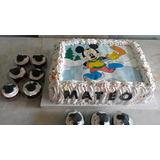 Torta Infantil 3 Kilos + 24 Muffins