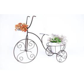 Bicicleta Ferro Artesanal Vaso Flor Jardim Decoração