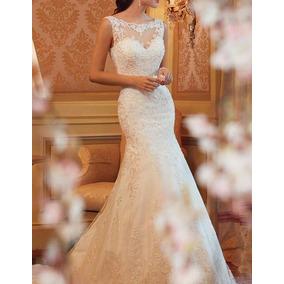 Vestido De Noiva Semi Sereia Casamento Pronta Entrega 79fli