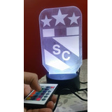 Lampara 3d, Led, Sporting Cristal