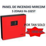 Panel De Incendio Mircom 5 Zonas Fa-1025t,