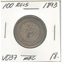 100 Reis 1893 Moeda De Niquel Mbc