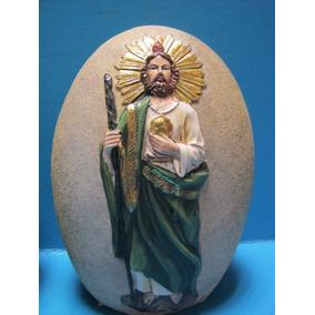 Figura San Judas Tadeo 16 Cm Poliresina Piedra Religioso