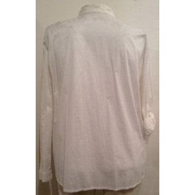 Camisa De Poplin Elastizada Talle Grande