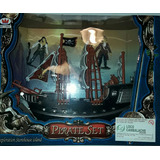 Barco Pirata Con 2 Piratas. 30cm (art Nuevo)