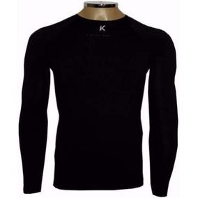 Camiseta Térmica Kanxa Preta Unisex Inverno Quente + Nf