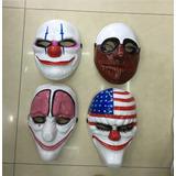 Set De 4 Mascaras Payday Ps3 Ps4 Payaso Halloween