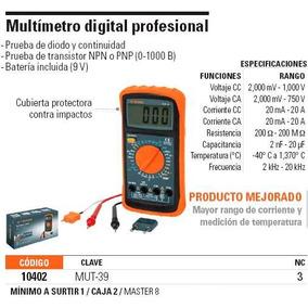 Multímetro Para Mantenimiento Industrial Clave Mut 10402