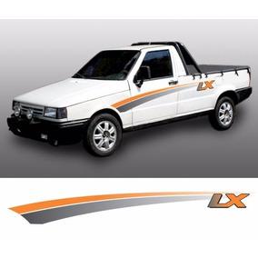 Kit De Faixas Adesivo Pick-up Fiat Fiorino Lx 94 Laranja