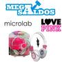 Megasaldos Audífonos Microlab Esound Control Volumen Rosados
