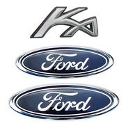 Kit 2 Emblemas Ford P/ Mala P/ Grade +  Ka 02/07 + Brinde