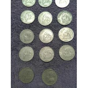 Monedas Mexicanas Antiguas 1 Peso,70s Y 80s Precio X Todas.