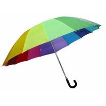 5 Paraguas Gdes Por Mayor Arco Iris 155 Cada Uno