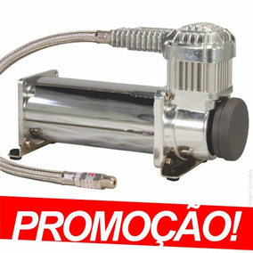 Compressor Kit Suspensão A Ar Cromado 444 200psi + Brinde 01