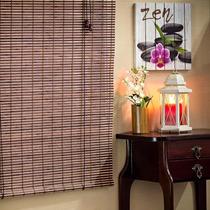 Persiana Rolo Bambu 100l X 220a Castanho