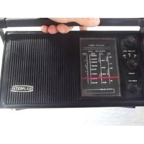 Antigo Radio Marca Interplan Não Funciona Decorativo