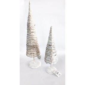 Arvores Cone Branca Arramada Decorativa Natal