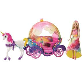 Barbie Reino De Arcoiris Princesa Caballo Y Carruaje
