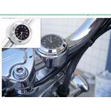Relógio Guidão Moto Motocicleta Custom Cromado Universal