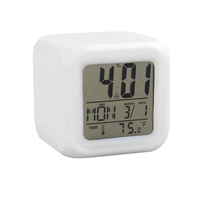 Reloj Cubo Luminoso Digital Led Colores - Oportunidades-vip