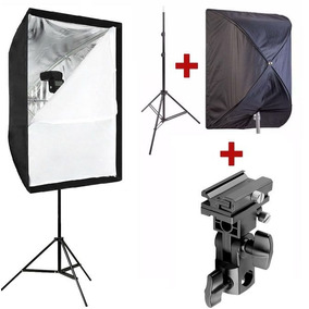 Kit Softbox 60x90 Godox +suporte Flash+ Tripé 2metros