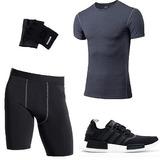 Kit Fitness adidas Nmd R1 + Camiseta + Bermuda Mas Guantes