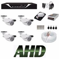 Kit Monitoramento Residencial E Comercial 4 Cameras Hd Ahd