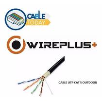 Cable Utp Cat 5e Outdoor Por Metro , Internet Cctv Wireplus+