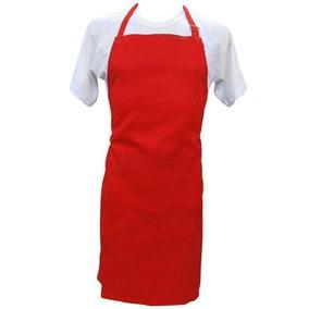 34bce93b0222e Talita Kit 06 Avental Oxford Vermelho + 03 Boné Vermelho