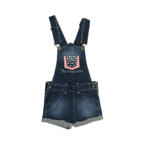 Macaquinho Jeans Feminino Infantil Chameguinho Tamanho 8