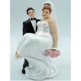 Casal Noivinhos Noiva Gordinha Enfeitar Bolo De Casamento