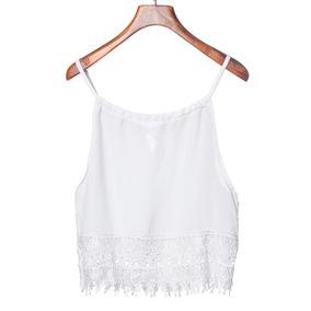 Cropped Branco Lindo Confortável Barato