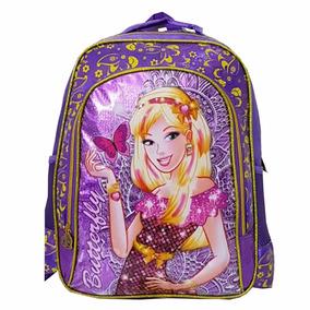 Mochila Escolar Costas Barbie Butterfly
