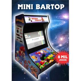 Mini Bartop Malvadeza 1 Player 8000 Jogos.