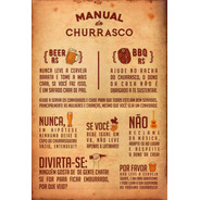 Placa Quadro Decorativo 60x40cm Manual Do Churrasco